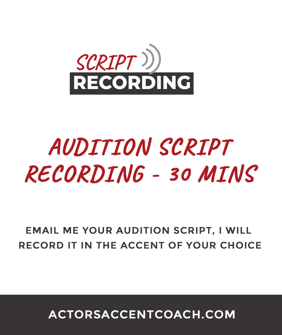 Audition Script Recording